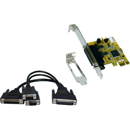 EXSYS Serielle 16C550 RS-232 PCIe I/O Karte, 2 + 1 Port