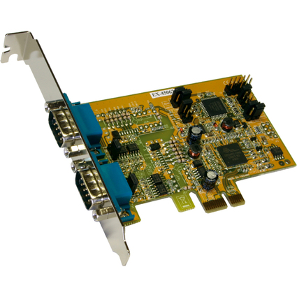 EXSYS Serielle 16C950 RS-422/485 PCI-Express Karte, 2 Port