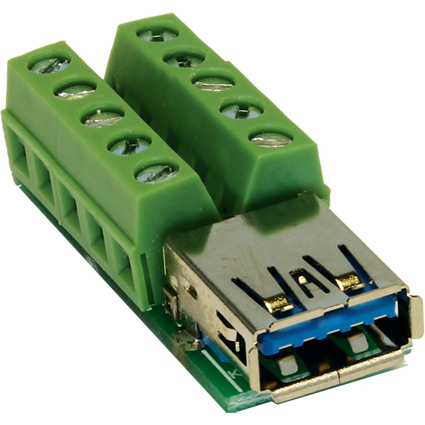 EXSYS Adapter USB 3.0 Kupplung auf Terminal Block