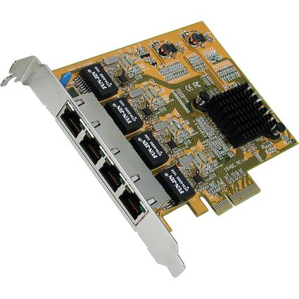 EXSYS PCI Express Ethernet Gigabit Netzwerkadapter, 4 Ports