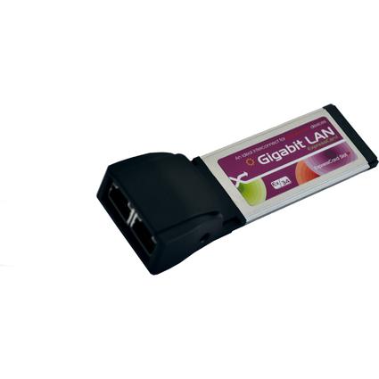 EXSYS Gigabit Dual Ethernet ExpressCard Netzwerkadapter