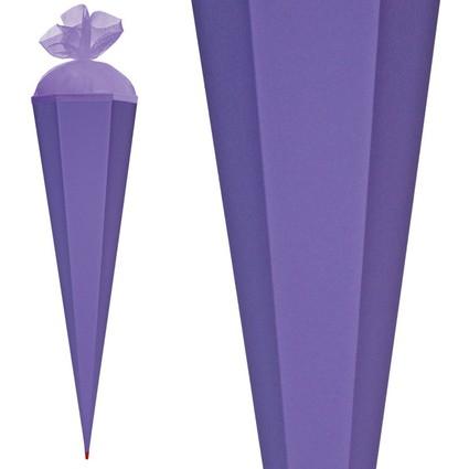 ROTH Basteltüte mit Verschluss, lila, 6-eckig, 850 mm