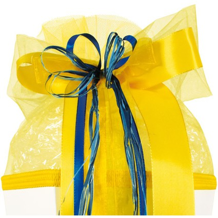 "ROTH Schultütenschleife ""Blue Banana"", gelb/blau"