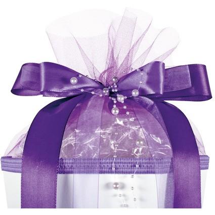 "ROTH Schultütenschleife ""Purple Pearls"", lila"
