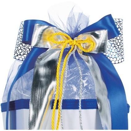 """ROTH Schultütenschleife """"Silver Star"""", blau/gelb"""