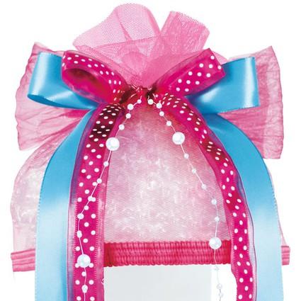 """ROTH Schultütenschleife """"Pink Dots"""", hellblau/pink/weiß"""