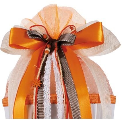 """ROTH Schultütenschleife """"Country"""", orange/weiß"""