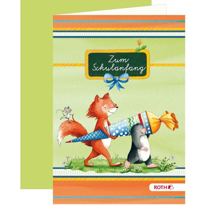 "ROTH Einladungskarte ""Flinki & Schlau"""