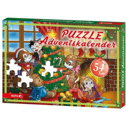 ROTH Puzzle-Adventskalender, für Minis
