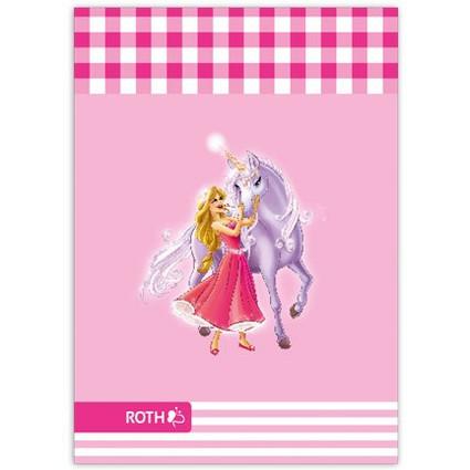 """ROTH Oktavheft """"Prinzessin mit Einhorn"""", DIN A6, liniert"""