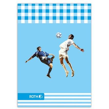 """ROTH Oktavheft """"Fußball"""", DIN A6, liniert, 32 Blatt"""