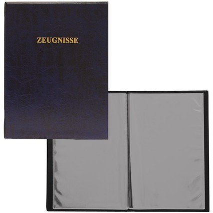 ROTH Zeugnismappe, DIN A4, Kunststoff, dunkelblau