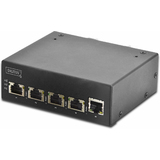 DIGITUS industrial Gigabit ethernet PoE Switch, 4 port PoE