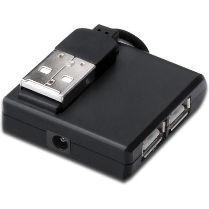 DIGITUS USB 2.0 Hub, 4-Port, schwarz