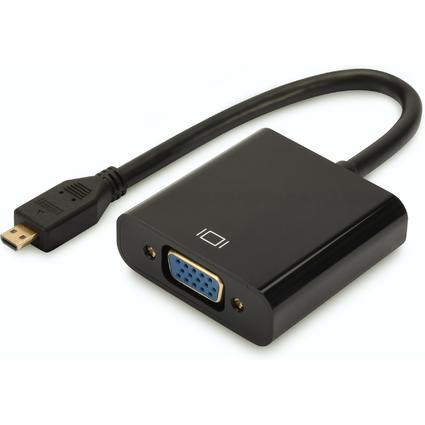 DIGITUS Micro-HDMI auf VGA Konverter, schwarz