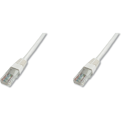 DIGITUS Patchkabel Premium, Kat. 5e, U/UTP, 1,0 m, weiß