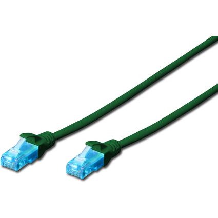 DIGITUS Patchkabel, Kat. 5e, U/UTP, 3,0 m, grün