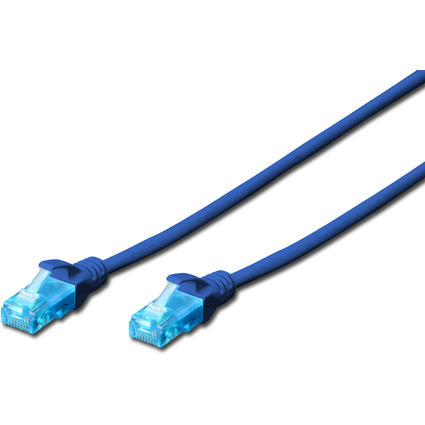 DIGITUS Patchkabel, Kat. 5e, U/UTP, 5,0 m, blau