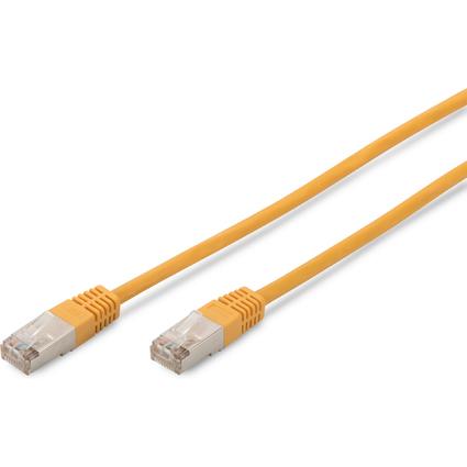 DIGITUS Patchkabel Premium, Kat. 5e, SF/UTP, 2,0 m, gelb