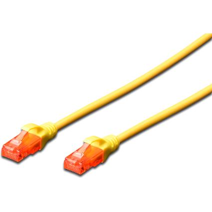 DIGITUS Patchkabel, Kat. 6, U/UTP, 0,5 m, gelb