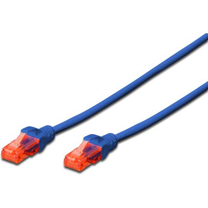 DIGITUS Patchkabel, Kat. 6, U/UTP, 1,0 m, blau