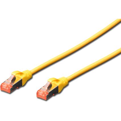 DIGITUS Patchkabel, Kat. 6, S/FTP, 0,25 m, gelb