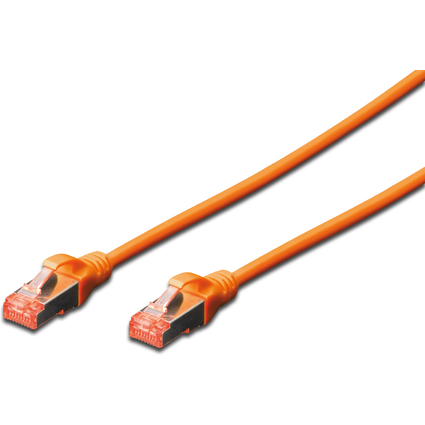 DIGITUS Patchkabel, Kat. 6, S/FTP, 0,5 m, orange