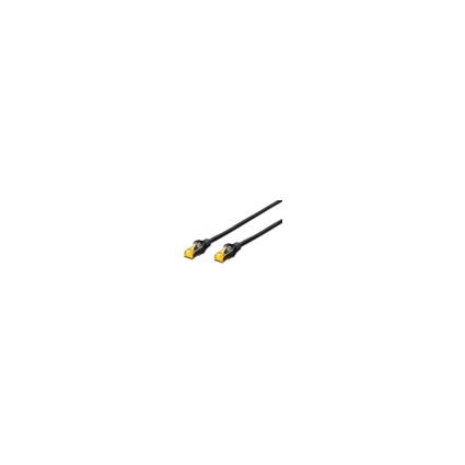 DIGITUS Patchkabel Kat. 6A, S/FTP, 0,5 m, schwarz