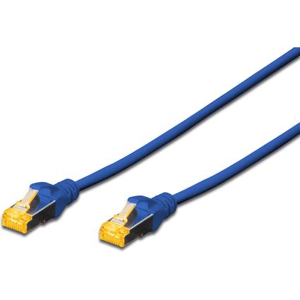 DIGITUS Patchkabel, Kat. 6A, S/FTP, 10,0 m, blau