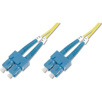 DIGITUS LWL Patchkabel, SC-Duplex - SC-Duplex, OS1, 5,0 m