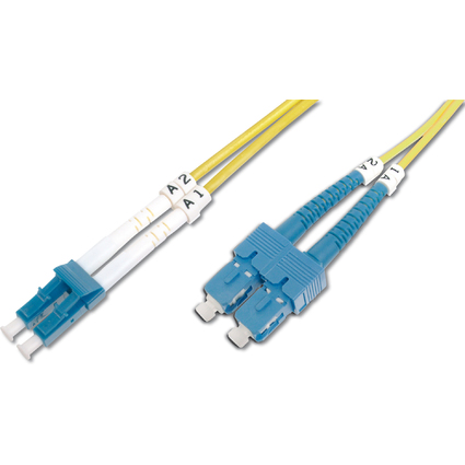 DIGITUS LWL Patchkabel, LC Duplex - SC-Duplex, OS2, 1,0 m