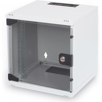 "DIGITUS 10"" Wandverteiler Compact Serie, 6 HE, lichtgrau"