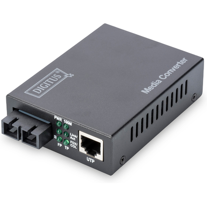 DIGITUS Fast Ethernet Medienkonverter, RJ45/SC, Multimode