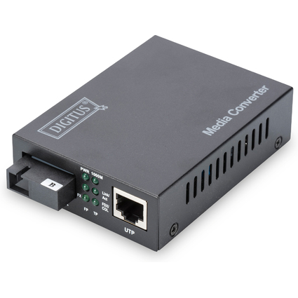 DIGITUS Gigabit Ethernet Medienkonverter, RJ45/SC