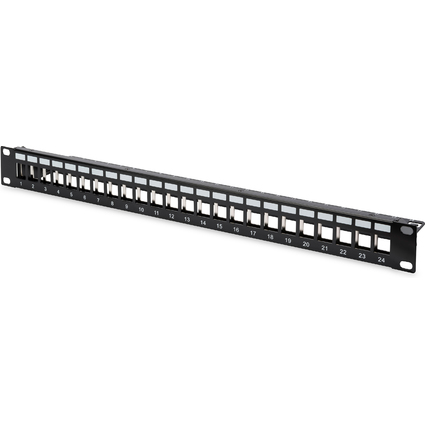 "DIGITUS 19"" Modulares Patch Panel für Keystone Module"