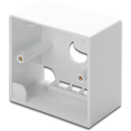 DIGITUS Aufputzrahmen für Keystone Module, reinweiß RAL9010
