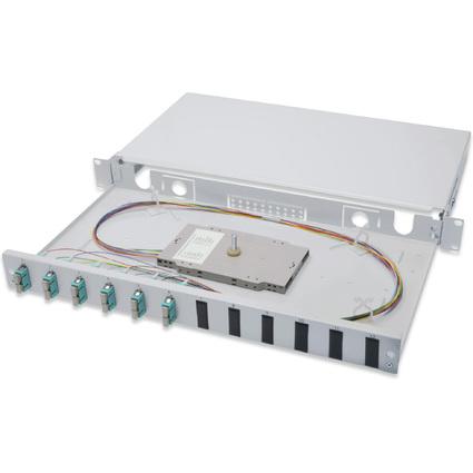 "DIGITUS 19"" Glasfaser LWL Spleißbox, OM3, bestückt, 6 x SC"