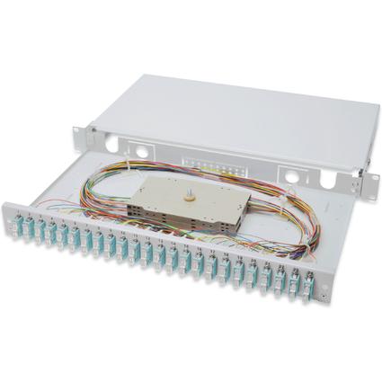"DIGITUS 19"" Glasfaser LWL Spleißbox, OM3, bestückt, 24 x SC"