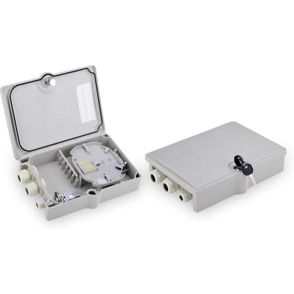 DIGITUS LWL Spleißbox OUTDOOR, IP65, für 12 Spleiße