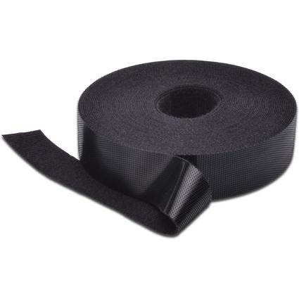 DIGITUS Klettband, 20 mm x 10 m, schwarz