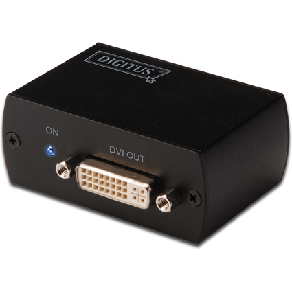 DIGITUS DVI Signalverstärker, bis 50 m, schwarz