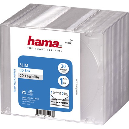 "hama CD-Leerhülle ""Slim"", Slim Case, Kunststoffbox"