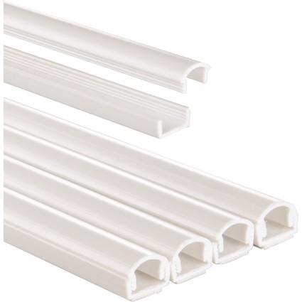 hama Kabelbrücke-Set, halbrund, Länge: 1,0 m, weiß