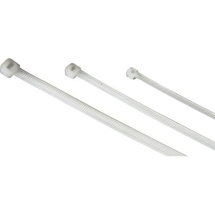 hama Kabelbinder-Set, aus Nylon, selbstsichernd, weiß