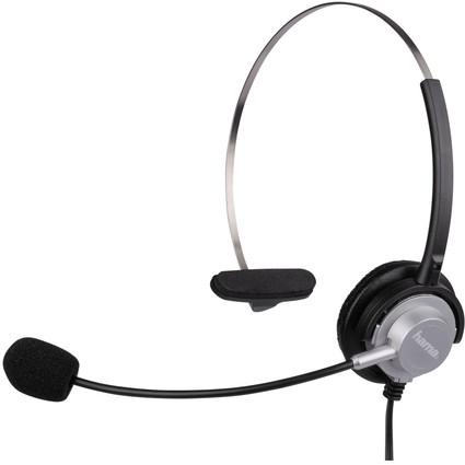 hama Telefon-Headset für DECT-Telefone, silber / anthrazit