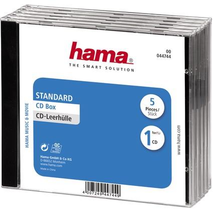 """hama CD-Leerhülle """"Standard"""", Jewel Case, Kunststoffbox"""