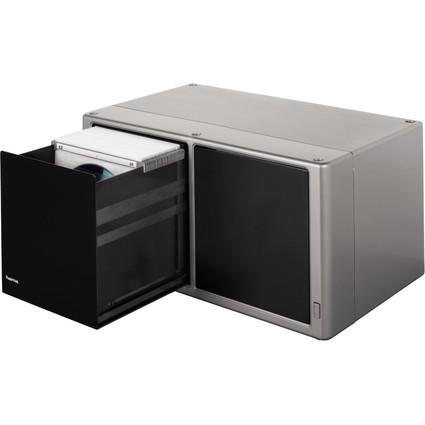 "hama CD-/DVD-Box ""Magic Touch"", für 120 CD's/DVD's, silber"