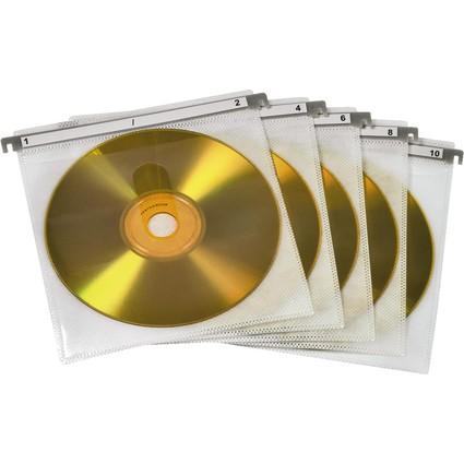 hama CD-/DVD-Hülle, für 2 CD's/DVD's, weiß