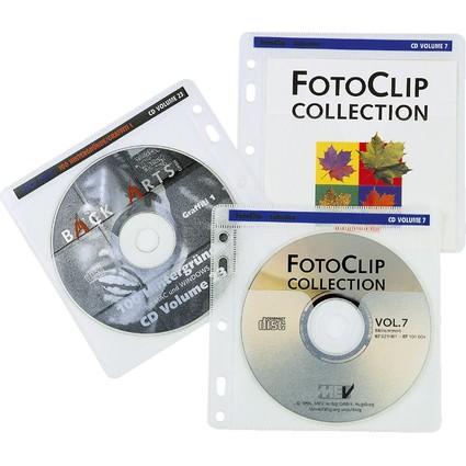 hama CD-/DVD-Hülle, für 2 CD's/DVD's, PP, transparent