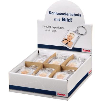 """hama Schlüsselanhänger """"Mini"""" für Minifotos, Theken-Display"""
